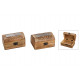 Portagioie India in legno marrone 2- volte assorti