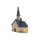 Windlight church in porcelain, B13 x T9 x H20 cm