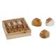 Coniglio argilla / finta pelliccia in una scatola
