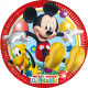 Playful Mickey - 8 Paper Plates Medium 20cm