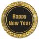 Gelukkig Nieuwjaar Retro - papieren borden Grote 2