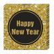 Gelukkig Nieuwjaar Retro - papieren servetten (3-l