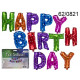 A set of 13 colorful balloons - Happy Birthday