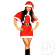 mother christmas costume with cape 4pcs