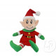 plush christmas elf leprechaun with hat and disgui