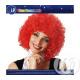 Media parrucca afro rosso