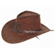 Cowboy hat imitation leather brown
