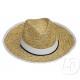 Hat granby straw headband and border white