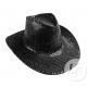 cowboy hat with black sequins