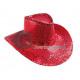 kowbojski kapelusz z czerwonymi cekinami