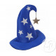 blue magician / merlin hat with stars