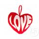 15cm plush heart love