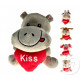 Stuffed animals miscellaneous with heart kiss