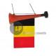 trompeta con la bandera de Bélgica