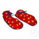 RED CLOWN paar slippers sterren
