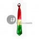 clown tie 45cm RED YELLOW GREEN