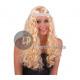 angel hair wig with headband long curly
