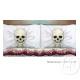 set di 2 federe, cuscino 53 scheletri