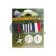 spilla con 3 medaglie militari 10x12cm