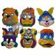 mix di colori maschera scafo animali