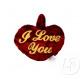 pluszowe serce walentynki kocham cię
