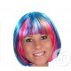multicolored wig cut square