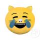 Párná emoticon döglött macska nevetés 33cm