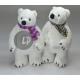 plush polar bear white mix 45cm