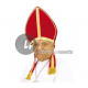 miter of saint-nicolas velvet red