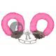 pink plush handcuffs