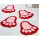 Set of 2 footmats Badematte in Fussform