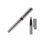 Rollerball pen with metal housing