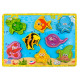 Fishes Basic Educational Wooden Magnetic Game Toys