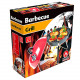 BBQ grill with cover Ø 36cm red