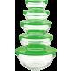 Herzberg HG-5007; Set of glass bowls transp