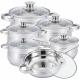 Herzberg HG-1241: 12-Piece Cookware Set