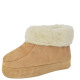 Cottage slipper genuine suede wool lining fur cran