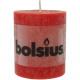 RUSTIK Stumpenkerze 80x68 rood