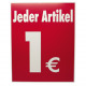 Deckenhänger 1 EUR 2seitig Wellpappe 50x40cm