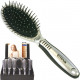 Hairbrush luxury rubberized grip on the display