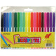 Pack of 20 felt pens in pocket