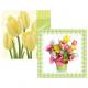33x33cm 20er Servietten tulipanes 3 capas