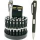 Kugelschreiber mit LED schwarz 12,5cm
