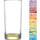 Sorted glass highball 0.25l colored bottom