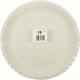 Party plate welded 15er 23 cm white