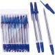 10 bolígrafo azul con tapa