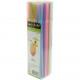 Pailles 100 couleurs pastel 21cm