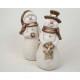 Snowman XXL z brokatem i gwiazdy 17x7cm, 2-fac