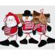Santa, Snowman i łoś z pluszowy 7x8x5cm
