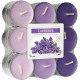 Tealight scent 18 lavender in block pack